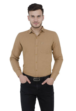 Baluchi Solid Regular Full Sleeve Linnen Beige Formal Shirt $ BLC_MNSHIRT_11