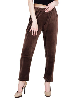 Baluchi 'PLUS SIZE' Women Winter Woollen Velvet Pyjama Bottom Pant with Fleece Inside Size- 30 to 38 $ BLC_PYJBRW_01
