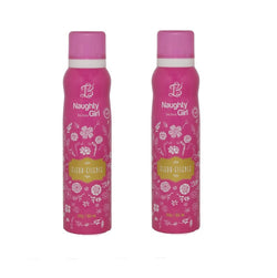 Naughty Girl FLEUR-ESSENCE Deodorant for Women- Pack of 2 (150ml each)