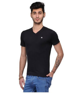 Dazzgear Men's Black V Neck MTV-49 T-Shirt