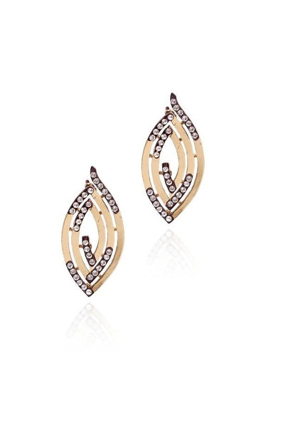 Golden maze Earrings - JPIMEAR1153