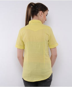 Spykar Yellow Short Sleeve Shirt