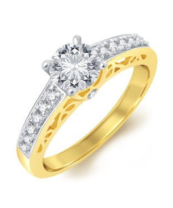 Sukkhi Divine Gold Plated Solitaire Ring For Women