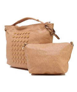 Fiona Trends Apricot PU Shoulder Bag,6007_APRICOT