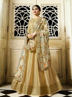 YOYO Fashion Designer Chennai Silk Semi-stitched Fancy Party Wear Anarkali Salwar Suit $ YO2-F1218