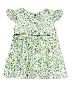 Budding Bees Girls Infant Purple Floral Fit & Flare Dress