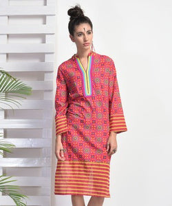 BLUE LOTUS Fuschia Kurta