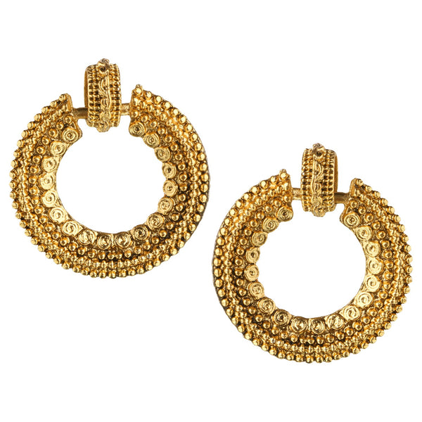Parna Traditional Partywear Gold Plated Alloy Drop Earring $ EAR-156