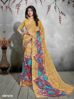 Umang NX Multi Digital Designer Digital Printed Sarees $ UN7419