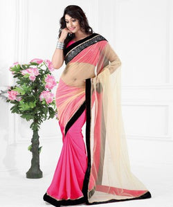 Net Saree with Blouse