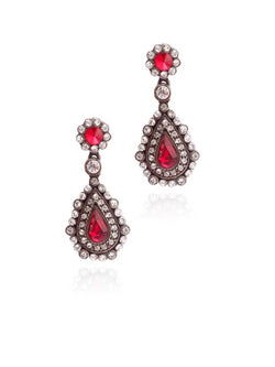Shimmer Red Earrings - JSENEAR1136