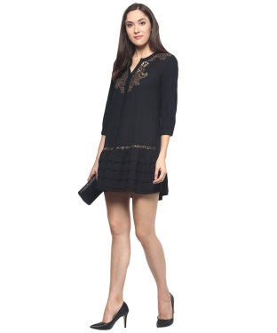 MiwayBlack Embellished Shift Dress