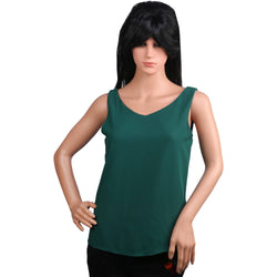 Fashiontiara Chiffon V neck Top & Tunic Sleeveless casual wear Small Size women girls $ FTT160