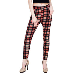 Baluchi Check Plaid Print Jeggings $ BLC_JEG_18