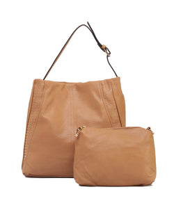 Fiona Trends Tan PU Shoulder Bag,6004_TAN