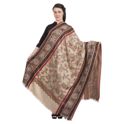 La Vastraa's Exotic Jamawar Thread Design Wool Shawl for Women-HKS0155