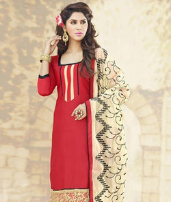 Cotton Chanderi Suit with Dupatta
