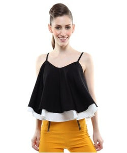 Miss Chase Black And White S/L Top