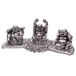 International Gift Aluminium Laughing Buddha God Idol (26 cm x 10 cm x 10 cm, Silver) $ GSI-103