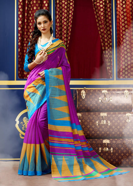 Designer Fancy Bhagalpuri  Printed Saree With Blouse $ SE00128561