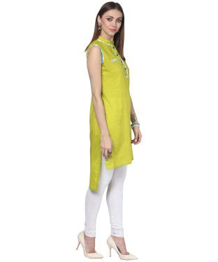 Darzaania Green Cotton Kurta