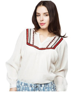 American Swan White F/S Top