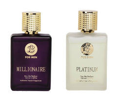 EAU DE PARFUM MILLIONAIRE PLATINUM Perfume Spray for Men- (Set of 2) (100ml each)