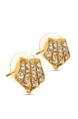 Bauble Burst Sparkly Shield Earrings