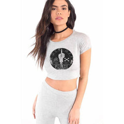 Partum Corde Premium Women's Modern Fit Round Neck  FOck off Please $ FOck off Please1066