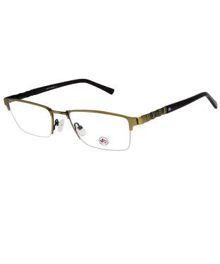 David Blake Matte Green Rectangular Half Rim EyeFrame