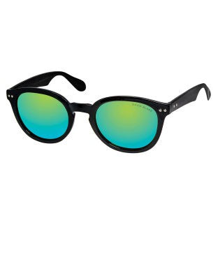 David Blake Green Round Mirrored Sunglass