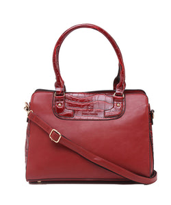 Fiona Trends Red PU Shoulder Bag,105_RED