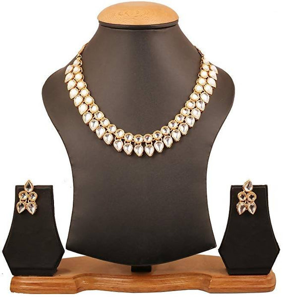 Gold Plated Alloy Metal Hand Crafted Work Women's Suresh 100 Necklace set $ AF788632