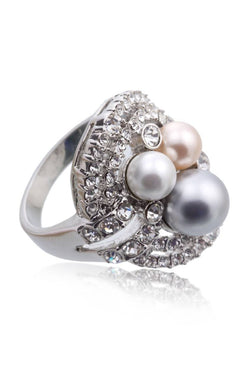Bauble Burst Pearl Nest Ring