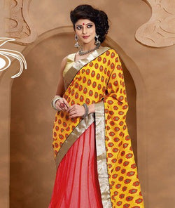 Georgette Lehenga Saree & Blouse