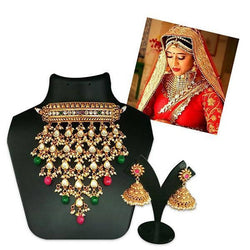 Tanishka Fashions AD Stone Choker Copper Necklace Set