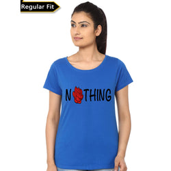 Partum Corde Premium Women's Modern Fit Round Neck T shirt NOTHING $ NOTHING3472