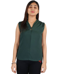 Fashion Tiara Women's Military green Polyester Tops $ FTT156
