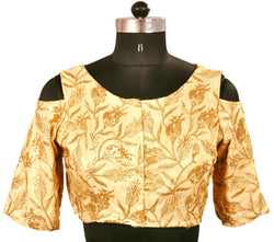 Stitch O Fab Gold sequence design Women Blouse-SOFgsdwb115
