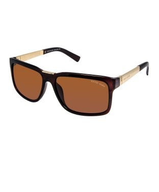 David Blake Brown Rectangular Polarised Sunglass