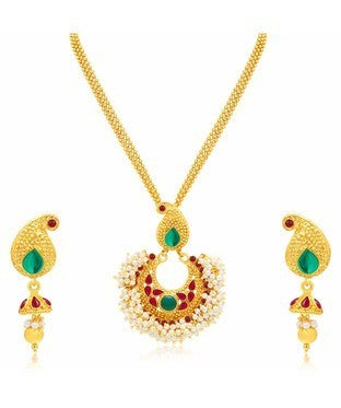 Sukkhi Appealing Kairi Gold Plated Necklace Set For Women