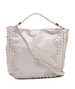 Fiona Trends Silver PU Shoulder Bag,6006_SILVER