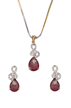 Ruby Luck Pendant Set - JMDKPES1974