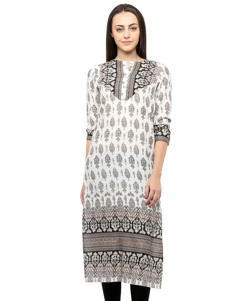 WHITE COLOR RAYON HOMA KURTIS