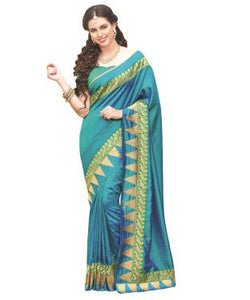 Laethnic Blue Art Silk Saree