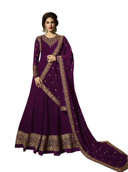 YOYO Fashion Georgette Anarkali Semi-Stitched salwar suit $ F1295