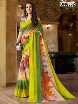 Umang NX Multi Digital Designer Digital Printed Sarees $ UN6552