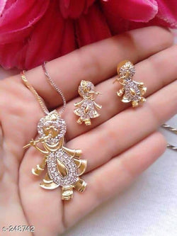Ankita Fashion Gold Plated American Diamond AD Radha Krishna $ AF78861255