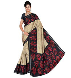BL Enterprise Women's Bhagalpuri Cotton Silk Red Color Saree With Blouse Piece $ BLLB-41