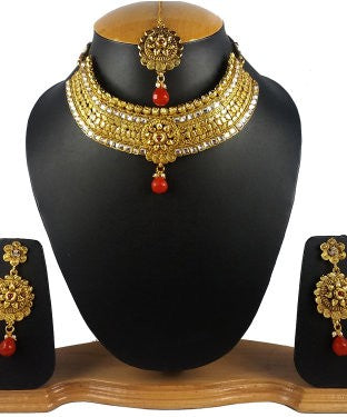 Aradhya Metal Jewel Set (Multicolor)